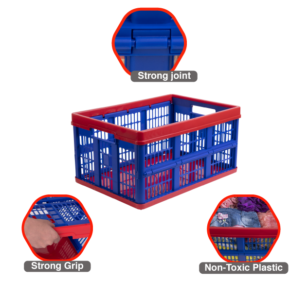 plastic crate with quality feature