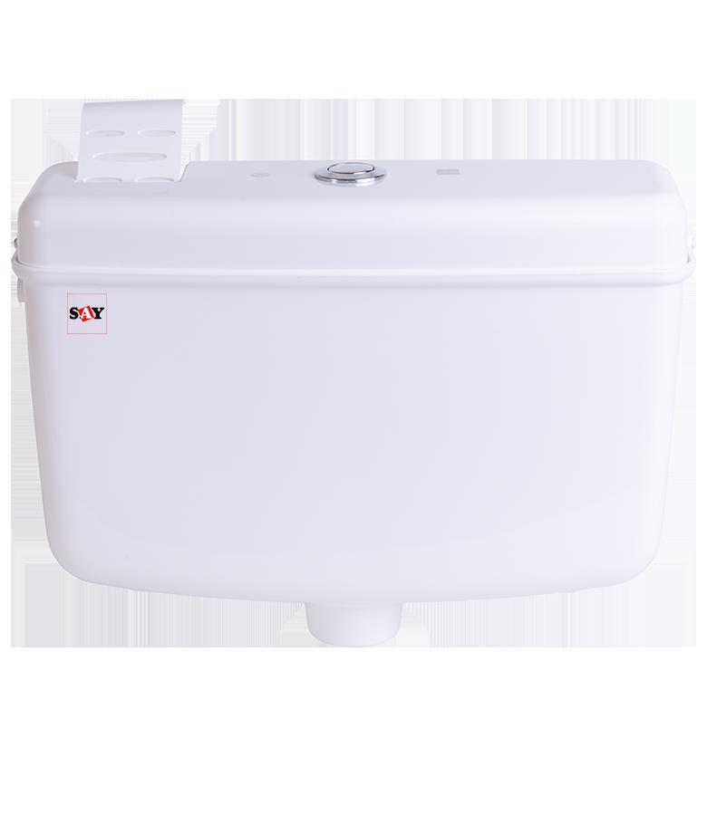 10ltr white puch botton cistern